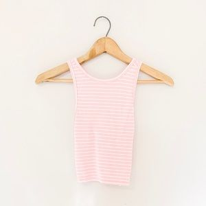 Hollister cross back ribbed crop top